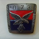 WWII THE GERMAN BADGE  Badge with personal number Peenemunde