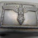 WWII THE GERMAN BADGE Belt buckle.  aluminum