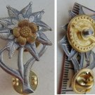 WWII THE GERMAN BADGE  Edelweiss on the screw
