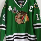 Chicago Blackhawks Jerseys 2015 Final Stanley Cup Patch Green #19 Toews XXL-54