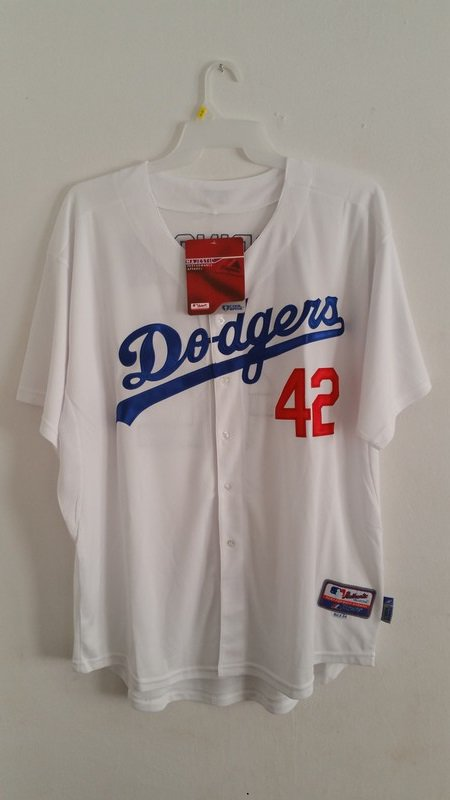 Los Angeles Dodgers #42 Jackie Robinson Stitched Throwback Jerseys      XXL-54