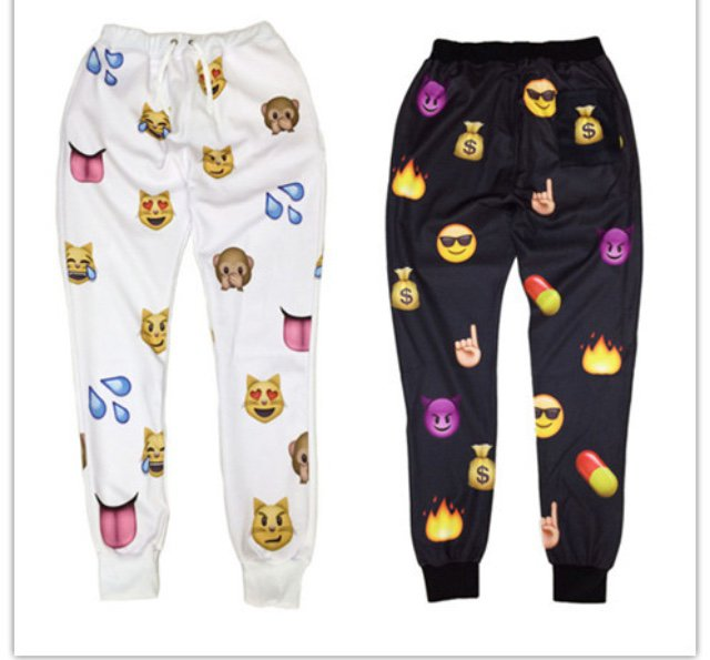 FlameDat Emoji Jogger Pants * Order One Size Larger *