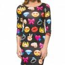 Womens FlameDat Emoji Dress 2.0
