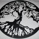 "Tree of Life Metal Wall Art Home Decor 24"" Flat Black"