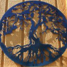 "Tree of Life Metal Wall Art Home Decor 16"" Chameleon Teal"