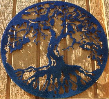 "Tree of Life Metal Wall Art Home Decor 16"" Chameleon Teal"