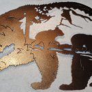 Bear with Bear Scene Metal Wall Art Home Decor