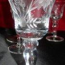 Cordial Stemware 5 Glasses