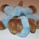 """Carters Blue Brown Puppy Dog Stuffed Animal Plush Lovey Security 12"""" 39820 Baby"""