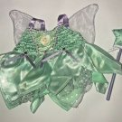 Build A Bear Workshop Disney Fairies Tinkerbell Costume Outfit Dress Wand