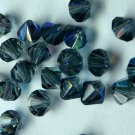 50 Zche bicone beads Montana AB 4mm