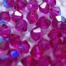 50 bicone beads zche Fuchsia AB 4mm