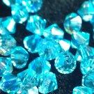 50 bicone beads zche Aqua AB 3mm