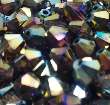 50 bicone beads 6 mm Lilac AB