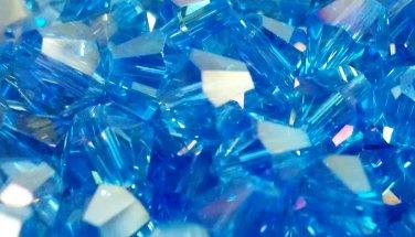 50 bicone beads 6 mm Lite Sapphire AB