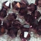 50 bicone beads 5 mm Burgundy