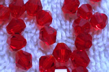 50 bicone beads 5 mm Siam
