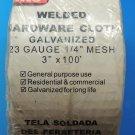 "Grip Rite Roof Gutter Vent Screen Welded Hardware Cloth Mesh 3"" x 100'  USA"