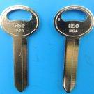 NEW Ford Lincoln Mercury Nickel Plated Key Blanks H50 Locksmith 2 each USA