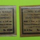Genuine Antique Illinois Watch MainSpring 21/0 size  47388   4 ea USA