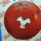 """3M Disc Pad Face Plate Ribbed Extra Hard Red 80514  7"""" NIP USA"""