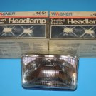 Wagner Sealed Beam Rectangular Clear Headlight Headlamp Bulb 4651 2 each USA