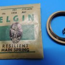 Antique Genuine Elgin Watch Resilient Main Springs 18 size 1956 .007 thick 178mm