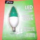 TCP GREEN LED Torpedo DECO Chandalier 5w = 40w Light Bulb RLDCT5WWGR Candelabra