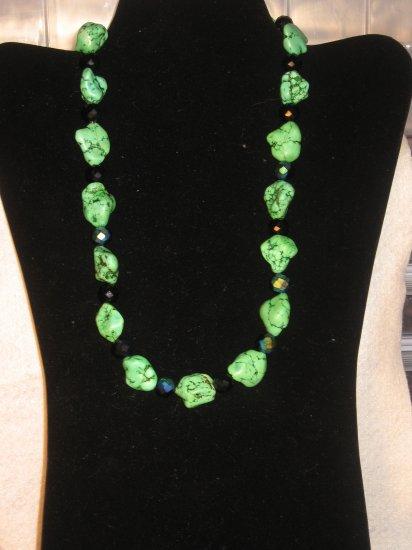 Apple Green Turquoise and Black Swarvoski Set