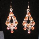 Dangle Swarvoski Aurora Borealis Earrings
