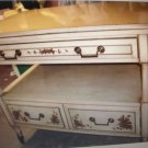TABLE/VINTAGE/40'S STYLE HOTEL SERVICE TABLE/TABLE/OPENS/SERVICE DRAWERS/WHEELS