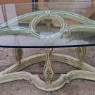 TABLES/2 END TABLES/COFFEE TABLE/P.U. ONLY/GLASS TOPS/PRE-OWNED/VINTAGE/70'S