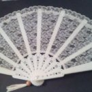 FAN/WEDDING/DECORATIVE FAN/LACE FAN/UMBRELLA/WEDDING DECOR/MINT/2 PCS./VNTG