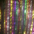 SCARF/ACCESSORY/METALLIC THREADS/BLACK + MULTI/SHINY/SCARF/3 FT. SQ./PRE-OWNED