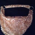 PURSE/EVENING BAG/MINT COND./NWOT/GOLD SEQUINED BAG,SACK/THICK SHOULDER STRAP/