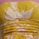 DRESS//DRESSY/SNAP/SZ.7/STRAPLESS DRESS/YELLOW/WHITE/EUC/REDUCED-10.26.14