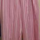 LOUNGE PANT CAPRI SLACKS LISTED AS XL.  PINK.WHITE.BURGUNDY CANDY STRIPE. NEW