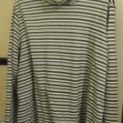 TOP SHIRT BASIC EDITION JERSEY KNIT 2X STRIPED BLOUSE BLACK WHITE GRAY 100% CTN.