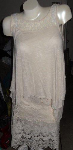 Outfit 2 Piece Dress Ecru Mix & Match Lace Small - Skirt - Solitare Top Monteau