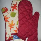OVEN MITTS (2) FOR AUTUMN - FALL - LEAVES COLORFUL - HOME COLLECTION NEW