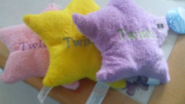 STAR PILLOWS BABY MUSICAL STAR PILLOWS 3 -YELLOW LAVENDER PINK-TWINKLE TWINKLE