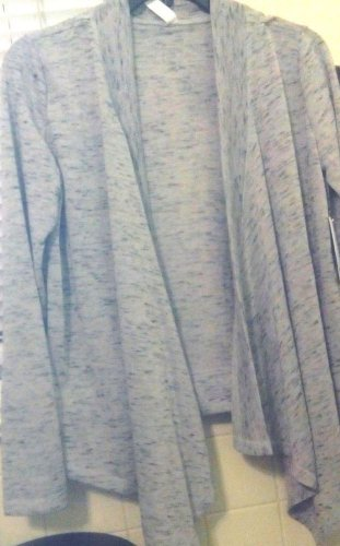 Sweater Jessica Simpson  Heather Gray & Black.XS Hankerchief Style New SALE NOW!