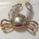 Pin Brooch Cute Little Crab Pin Gold Tone Vintage Unworn Pin