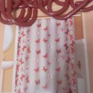 SHOWER CURTAIN BUTTERFLIES PEVA EVA 12 HOOKS INCLUDED NEW 70 X72 - MILDEW RESIST