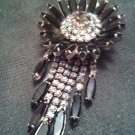 Pin Brooch Vintage Family Estate Jewelry Large Piece Blue & Iridescent Pin