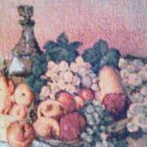 "Table Runner/ Runner Fruit Bowl Tapestry Tuscan Style 13"" x 70"" New"