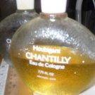 PERFUME FRAGRANCE CHANTILLY EAU DE COLOGNE VTG. 7.75 OZ. HALF FULL + 1 EMPTY