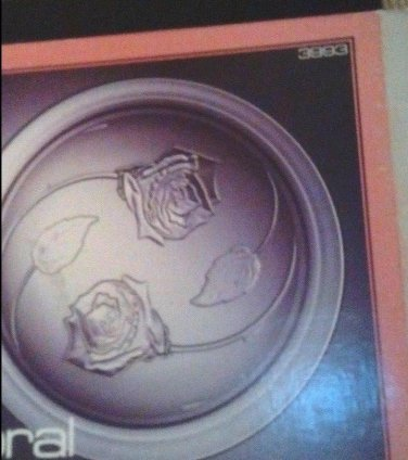 "Platter Glass Rose Motif Indiana Glass Co.MIB 13"" Platter  Roses Beauty SALE NOW"
