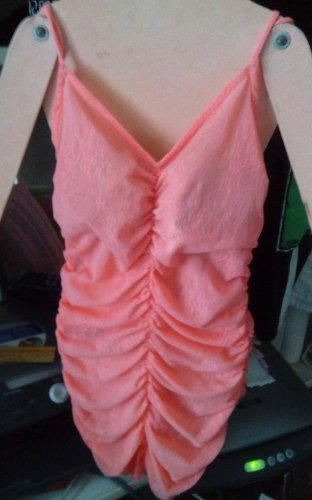 Lingerie 1 Piece Intimate Ex. Sm. Free People .Open Bottom Cami Peach