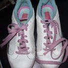 SHOES PASTRY'S WHITE W/BLUE PINK BROWN LACES - WO 7 GOOD CONDITION